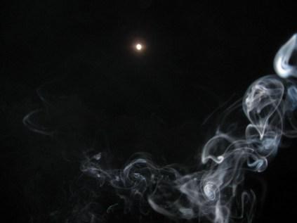 Smoke at the moon
