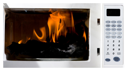 microwave-on-fire